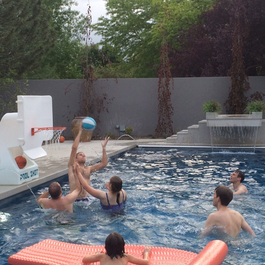 pool and bbq