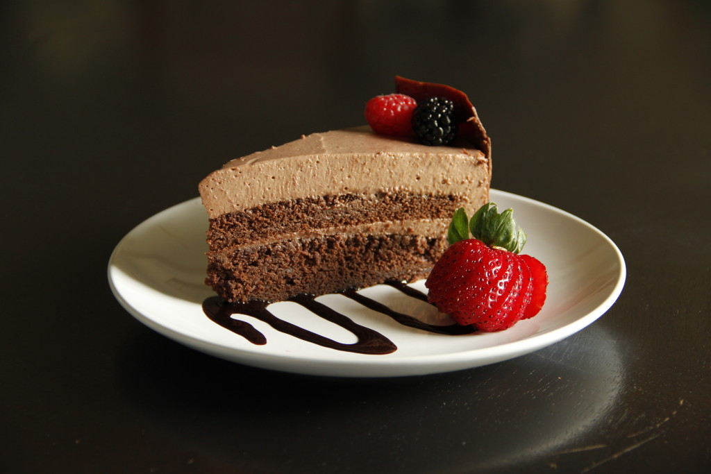 Chocolate Cake and Berries