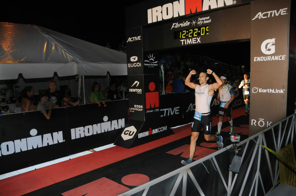 Ironman Florida 2015 with a final time of 12 hrs 11 mins 44 secs. I finished 11th in my age group, 487th of all men, and 570th overall out of nearly 3000 competitors.